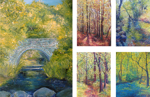 Collage of Irish woodland scenes