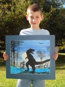 "Graydon McKoy holds ""t-rex"""