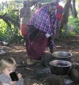 Masai campfire