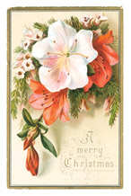 Victorian era Christmas card