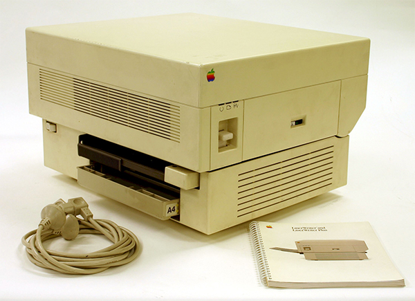The LaserWriter filled the roles of both typesetting and process camera with its debut in 1985.