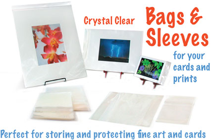 Clear bags and sleeves for greeting cards