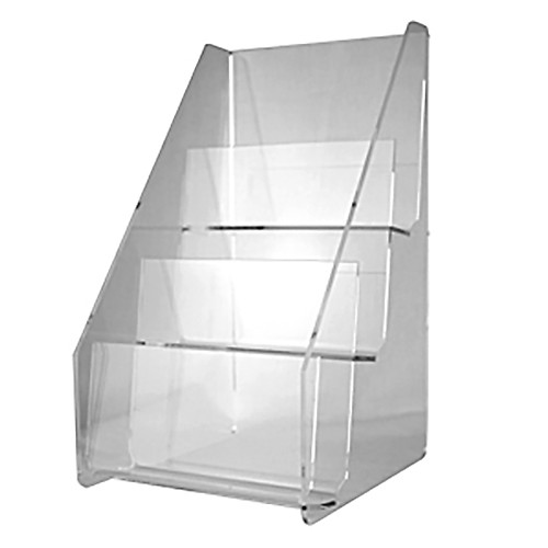 3 Tier Clear Acrylic Card Vertical Display Stand