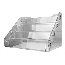 4-Tier Clear Acrylic Countertop Card Display