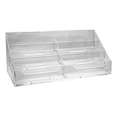 6 Pocket Clear Acrylic Business Card Stand
