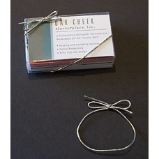 "6"" Metallic Silver Elastic Stretch Loop"