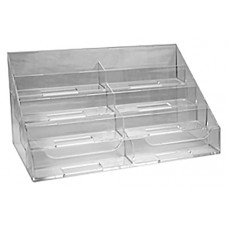 8 Pocket Clear Acrylic Business Card Stand