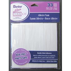 Adhesive Foam Strips - Pack of 33