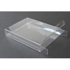 "4 Baronial 1/2 Notecard Clear Plastic Box 3-3/4"" x 5-3/16"" x 5/8"""