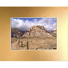 "5"" x 7"" Brushed Gold Foil Mat - 3"" x 5"" Window"