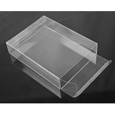 "Square Clear Plastic Box 6-1/8"" x 6-1/16"" x 1"""