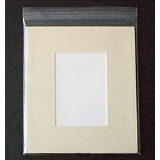 8x10 Cream Mat, Back and Bag Combo - 5x7 Window