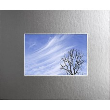 "11"" x 14"" Frosted Mirror Mat - 5"" x 7"" Window"