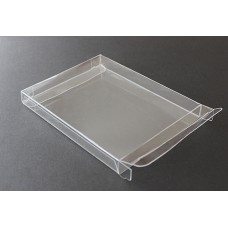 "A2-1/2 Notecard Clear Plastic Box - 4-1/2"" x 5-7/8"" x 5/8"""