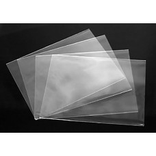 "A6 No Flap Crystal Clear Bags (Sleeves) - 4-15/16"" x 6-11/16"""