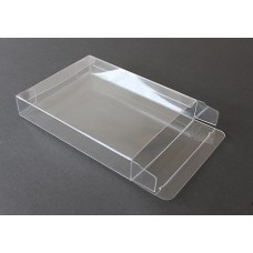"A2-1-1/4 Notecard Clear Plastic Box - 4 1/2"" x 5 7/8"" 1 1/4"""