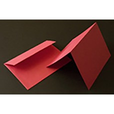 A6 Red Blank Card and Envelope