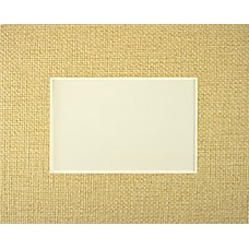 "3"" x 5"" Straw Hat Mat - 2"" x 3"" Window"