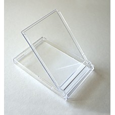 Clear Acrylic Business Card Flip-Up Stand/Case