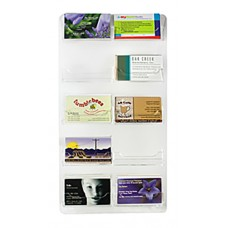 10 Pocket Vertical Wall Mount Clear Acrylic Business Card Display