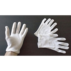 Heavy White Cotton Gloves - Large - 1 pair