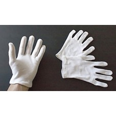 Heavy White Cotton Gloves - Small - 1 pair