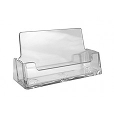 Horizontal Clear Acrylic Business Card Holder