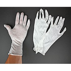 Light White Cotton Gloves - Long Large - 1 pair