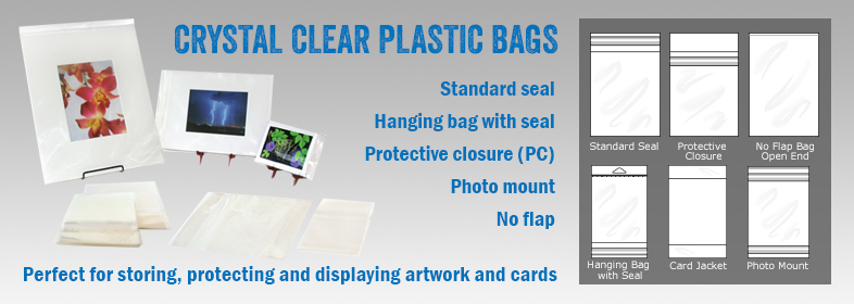 Crystal clear plastic bags