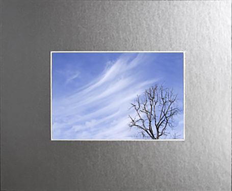 Frosted Mirror Archival Crescent Mat